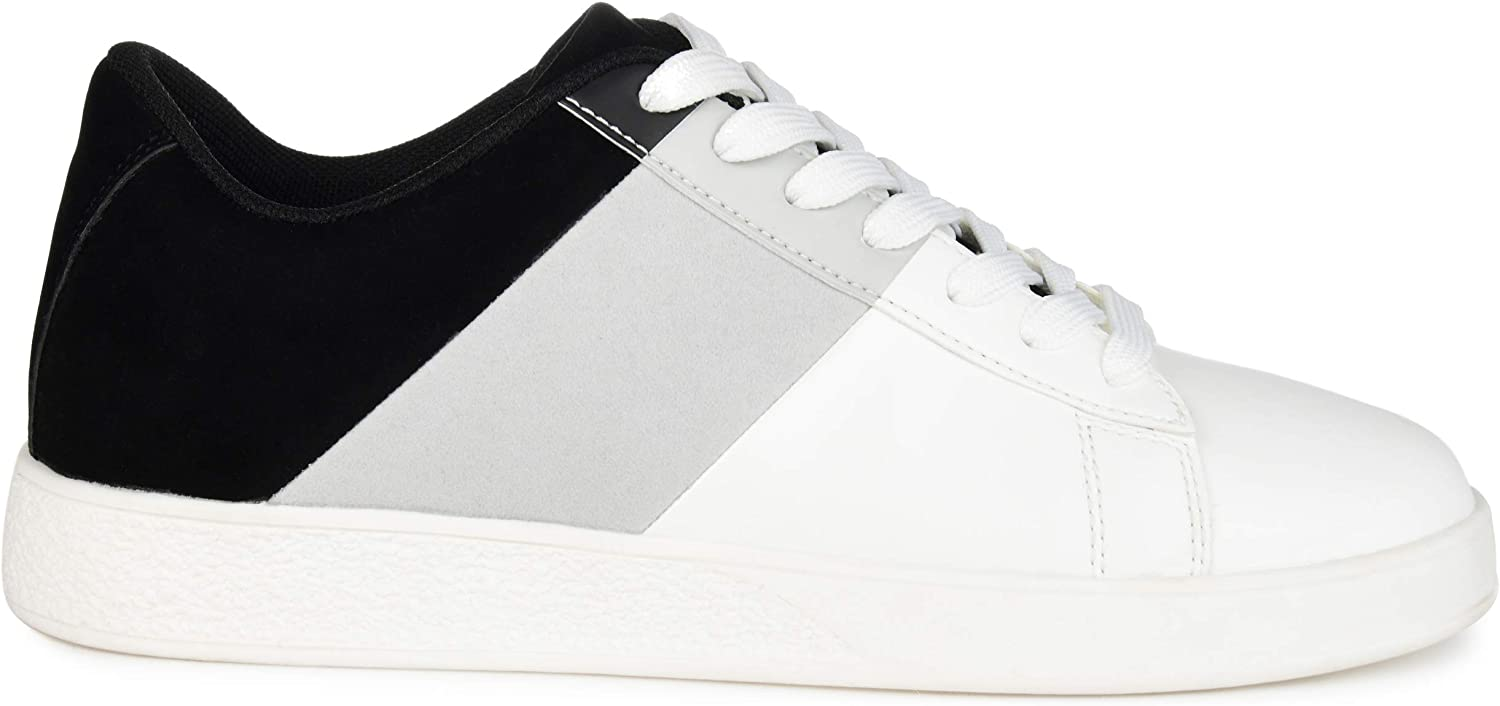 Brinley Co. Womens Today's only Comfort Foam Lace-Up Chicago Mall Sneaker