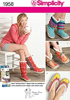 simplicity slipper pattern