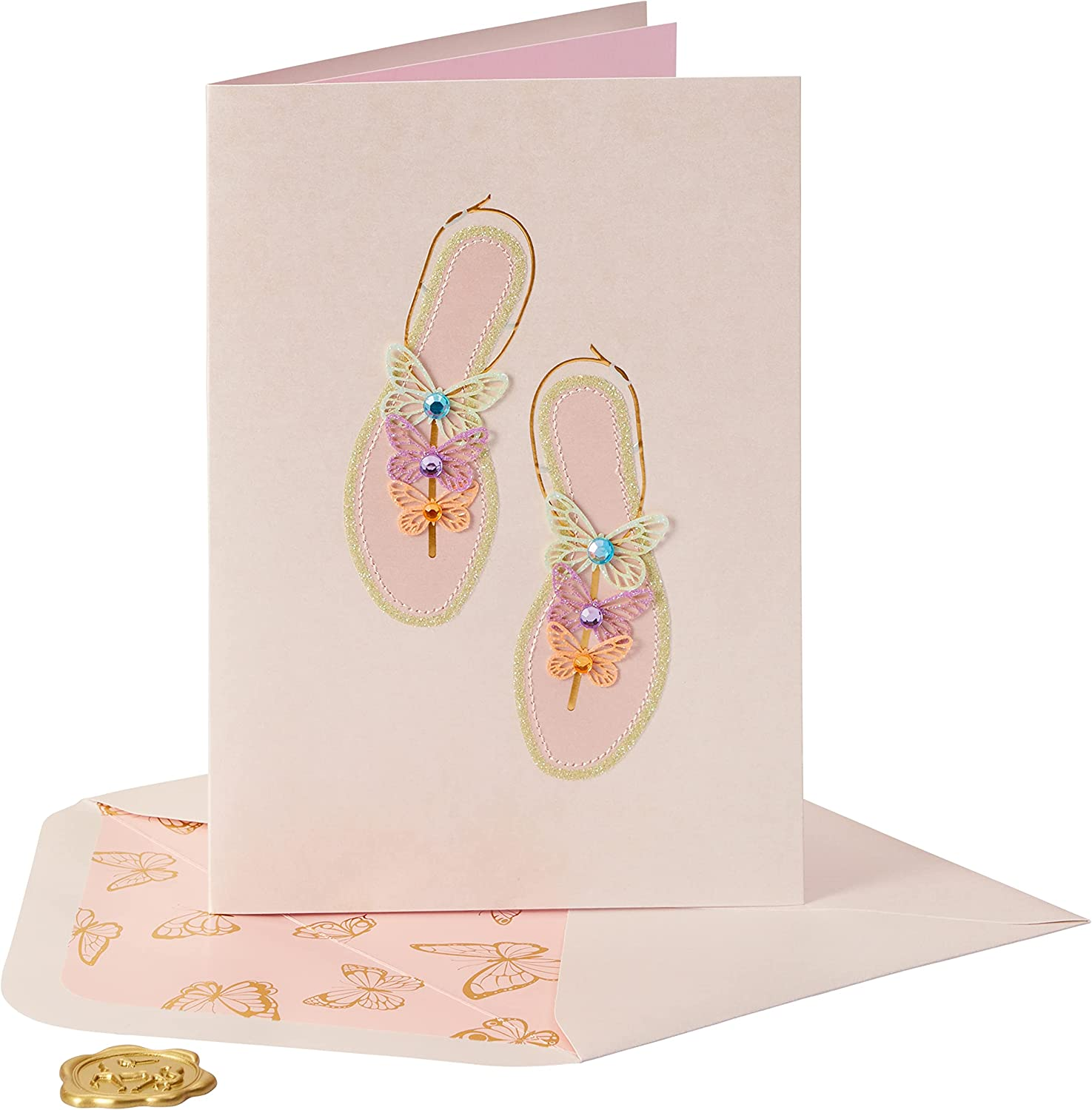 Special Campaign NIQUEA.D Happy Birthday Popular Card Sandal Butterfly NB-0003
