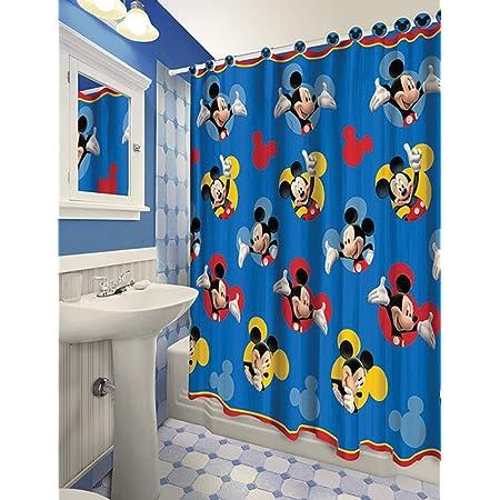 Donald Duck Fabric Waterproof Shower Curtain Bathroom Decor Bath Curtain Disney