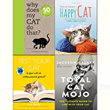 Total cat mojo,test your cat,why does my cat do that,how to have a happy cat 4 books collection set