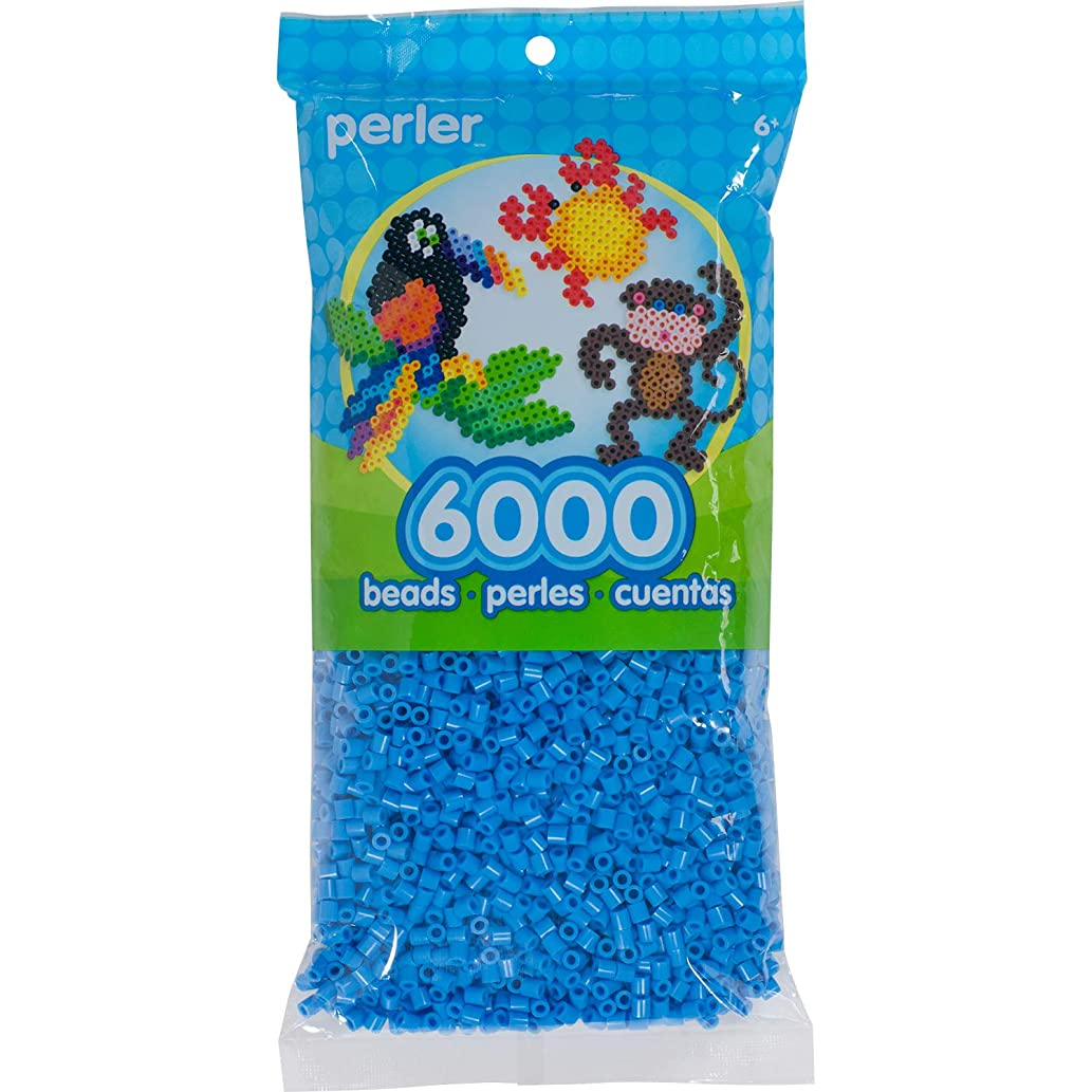 Perler PER8011101 Fuse Bead Bag for Arts and Crafts, Light Blue, 6000pc