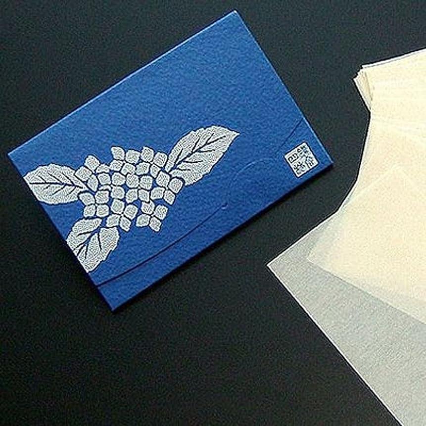 トラップベルベット教室季節の花  紫陽花 「絹すき」 短冊サイズ