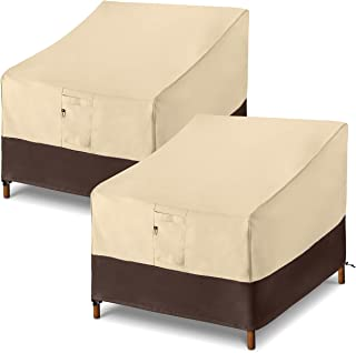 Arcedo Patio Chair Covers, Heavy Duty Deep Seat Lounge Outdoor Chair Covers, Waterproof Patio Furniture Covers, All Weathe...