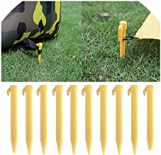 Tent Stakes 10 Pcs Outdoor Travel Camping Tents Stakes Pegs Pins Trip Plastic Heavy Duty Tent Nails Fixing Tent Mat Stake Nails