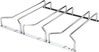 Oenophilia Under Cabinet Stemware Rack, Wine Glass Hanger Under Cabinet Kitchen, Chrome Finish, Holds 6-9 Glasses Depending on Style