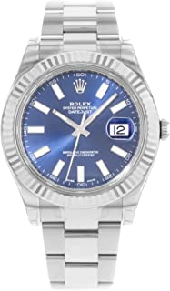 NEW Rolex Datejust II Stainless Steel and 18K White Gold Blue Dial Mens watch 116334 BLIO