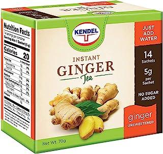 Kendel Instant Ginger Tea Unsweetened Caffeine-Free Sugar-Free (14 Sachets)