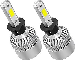 Crownova H3 Led Headlight Bulbs, S2 Series Flip COB Chips, 3600lm Hi/Lo Beam/Fog Lights, 6500k Cool Daylight