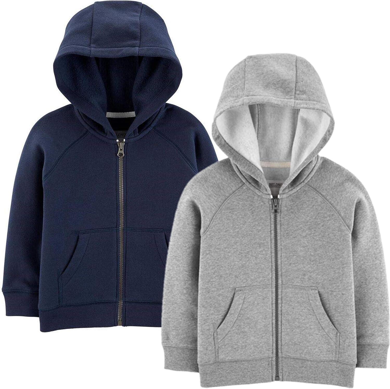 Carters Boys Big 2-Pack Full Zip Hoodies
