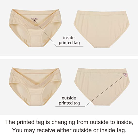 INNERSY Women/'s Maternity Panties Cotton Postpartum Pregnancy Underwear 5-Pack