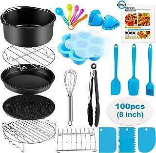 Accessoires pour friteuses à air, 20 pièces pour friteuse à air Ninja Innsky Princess COSORI 4L 4.5L 5.2L 5.5L, Accessoire...