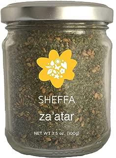 Sheffa Zaatar Spice Blend Aromatic Hyssop Seasoning (3.5 oz) Traditional Middle Eastern Za atar Seasoning - Zesty Zatar Mix of Thyme, Sumac and Sesame Seeds. z zahtar za'atar zataar - Gluten Free