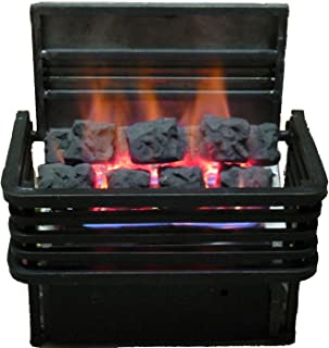 Rasmussen 15-inch Chillbuster Fireplace Set With Vent Free Natural Gas Coalfire Modern Style Basket Burner - Variable Flame Remote