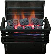 Rasmussen 19-inch Chillbuster Fireplace Set With Vent Free Natural Gas Coalfire Modern Style Basket Burner - Variable Flame Remote