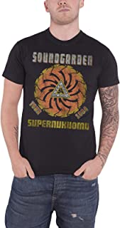 Soundgarden T Shirt Superunknown Tour 1994 Distressed Official Mens Black