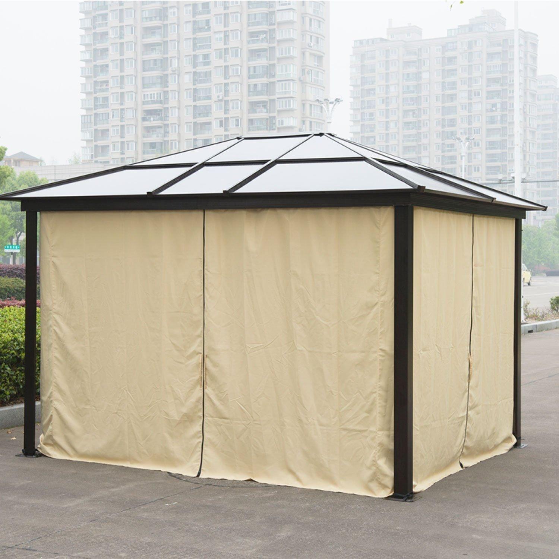 Carpa con toldo para jardín Outsunny de 3 m x 3, 6 m fabricado con ...