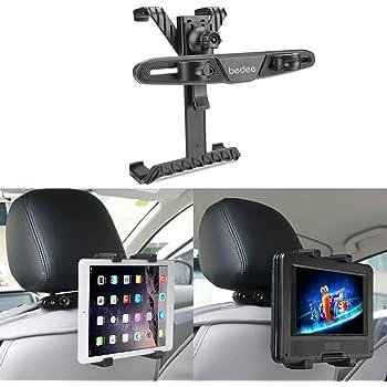 タブレット 車載 ホルダー ポータブル DVD プレーヤー ホルダー テレビホルダー マウントホルダー 車後部座席用 スタンド 強力固定 360度回転 7-12インチTablet用 ipad ipad mini GalaxyTab Nexus7などにも対応 bedee