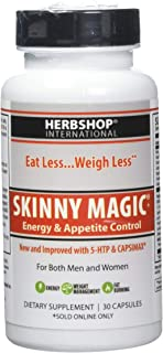 Skinny Magic® - Thermogenic Weight Loss, Increase Metabolism, Energy Booster for Women and Men, Appetite Suppressant, Sugar Cravings, 30 Capsules