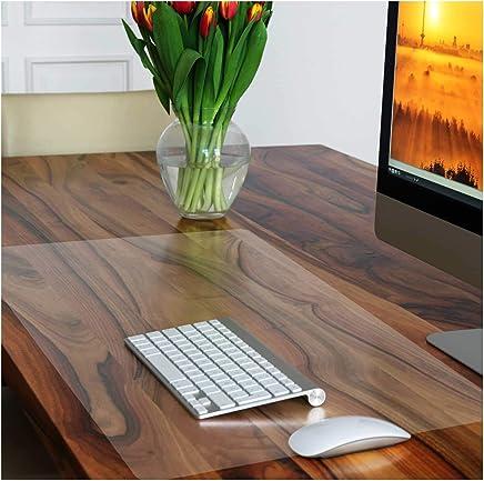 Sous-main transparent casa pura® PVC   protection meuble, table   discret   blanc transparent, 50x65cm