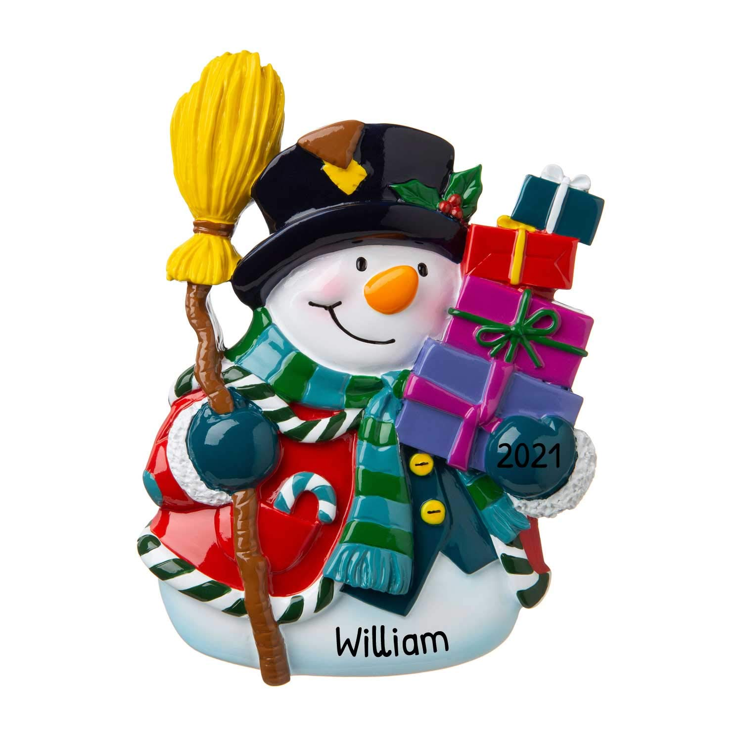 Image of A Favorite: Personalized Holiday Gifts Snowman Ornament - See More Snowmen