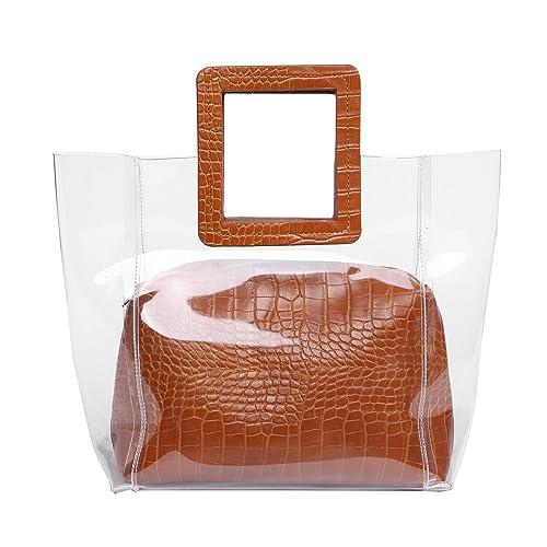 5c46ba79b368 FANCY LOVE Classy Waterprof Clear Tote Beach Shoulder Crossbody Bag