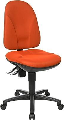 Topstar PO50BC4 Point 35 - Silla de Escritorio con Ruedas, Color Naranja