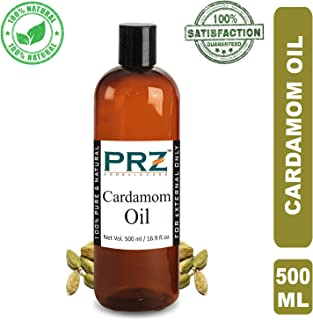 PRZ Cardamom Essential Oil (500ML) - Pure Natural For Aromatherapy, Skin Care & Hair Care