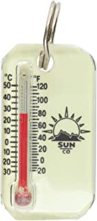 Sun Company LumaZip - Glow-in-The-Dark Zipperpull Thermometer for Jacket, Parka, or Pack   Luminous Outdoor Thermometer wi...