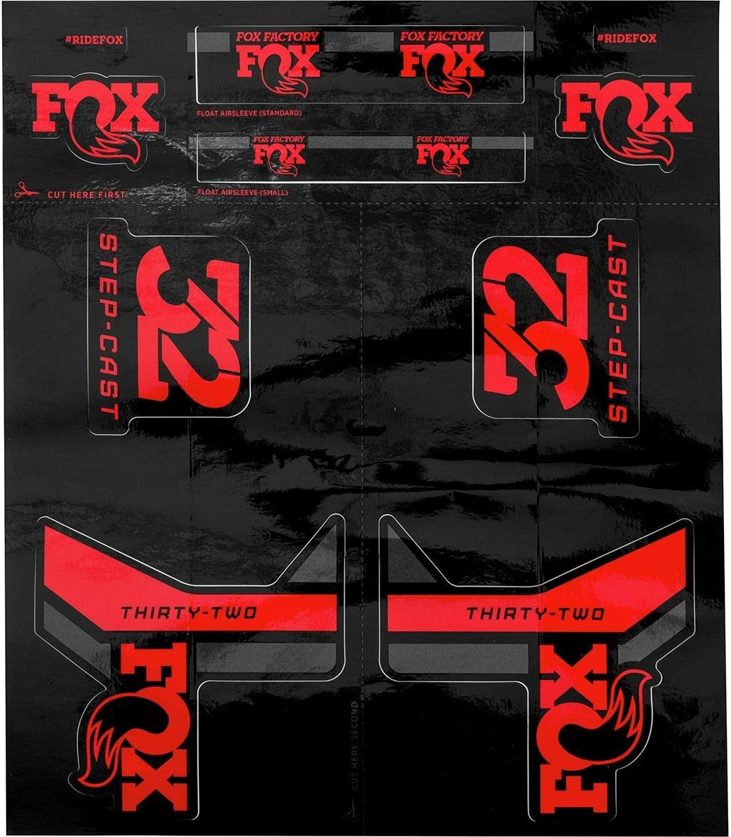 FOX Stepcast 32 Decals Set Performance Series Fork Grey Left /& Right Step Cast
