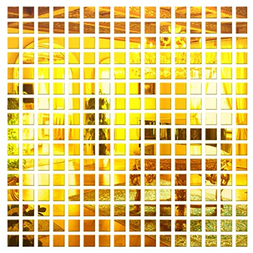 Incredible Gifts India 3D Wall Decor Stickers - Square Mosaic (Gold)