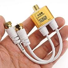 ホーリック アンテナ分波器 極細ケーブル一体型 10cm ホワイト ネジ式コネクタ AE-323SW