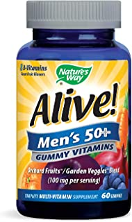 Nature's Way Alive! Men's 50+ Gummy Multi-Vitamin, 60 Count
