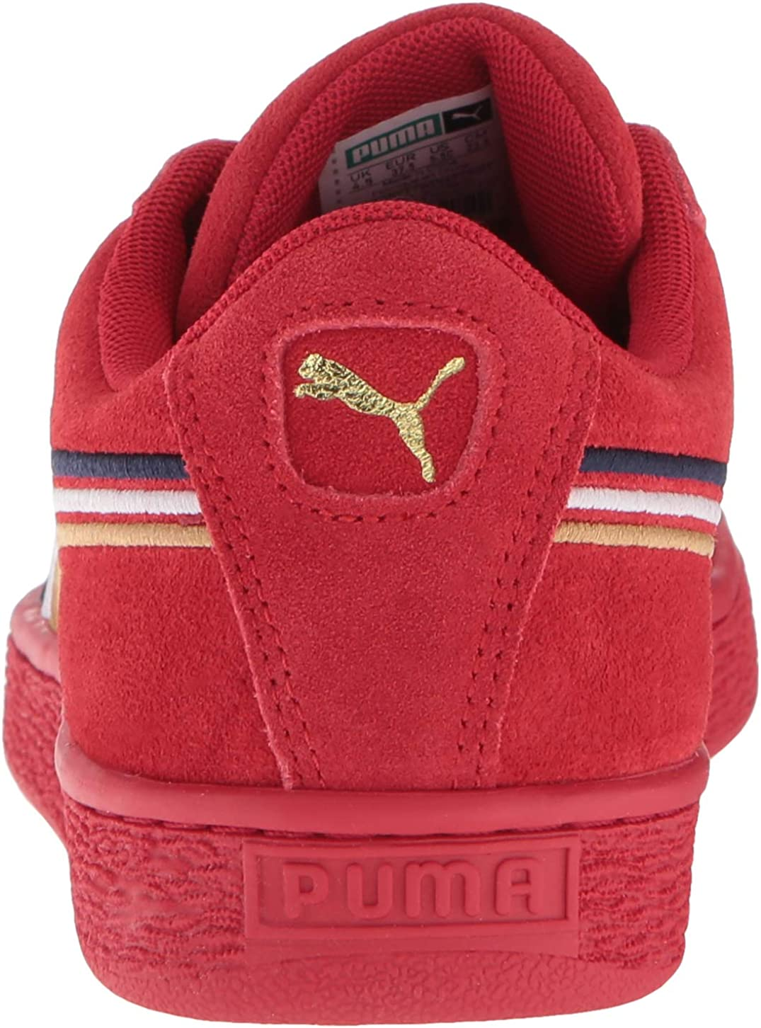 PUMA unisex-kids Suede Classic Multicolor Emboss Kids Sneaker