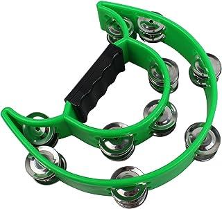 YMC Half Moon EZ Grip Tambourine 20 Jingles - Green