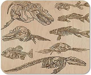 utong Mousepad Computadora Bloc de Notas Huesos de Oficina Esqueletos y Calaveras de Algunos bajo el Agua Colección de Animales Dibujo a Mano alzada Hogar Escuela Juego Jugador Computadora Trabajador