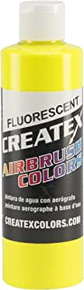 Createx Colors Paint for Airbrush, 8 oz, Fluorescent Yellow