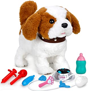 FORTY4 Realistic Puppy Dog Toy for Kids, Walking, Barking, Singing, Tail Wagging, Like Real Robotic Present Pet Toy for To...
