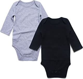 Baby Bodysuit 2-Pack Solid Colors Newborn Boy Girl Outfit 0-24 Months