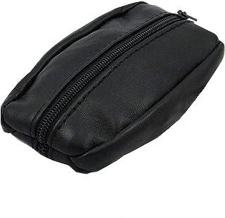Mamjack - Porte-Monnaie Homme - Cuir véritable - Noir - pour Poches Pantalon ou Veste (Small)