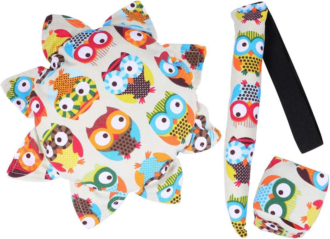 Abaodam 1 Set 3PCS Cartoon Pattern Trust Now on sale Fabric Flying Plate Reusable