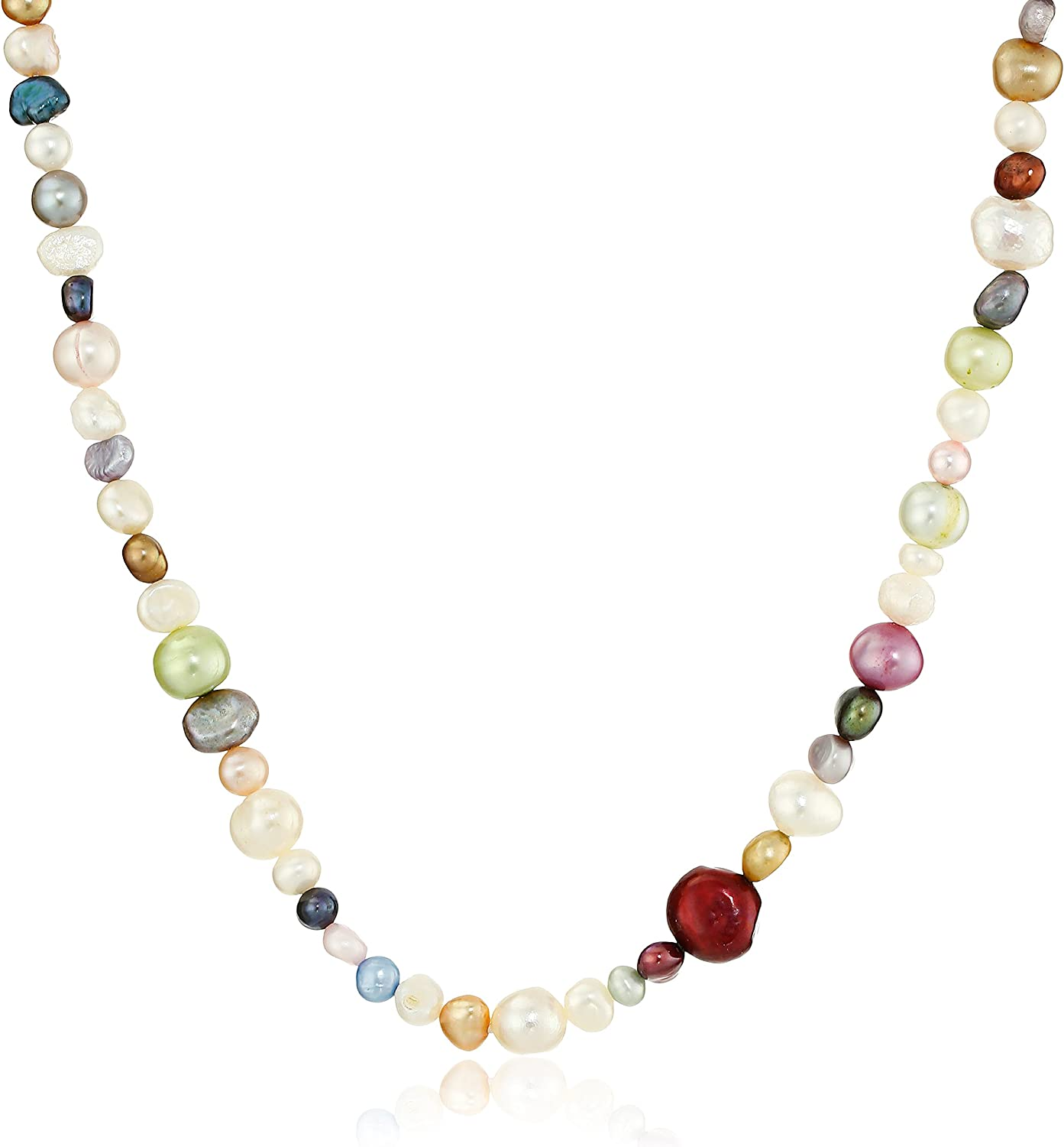 Multicolor Bright Freshwater Cultured Endless Pearl Strand, 66