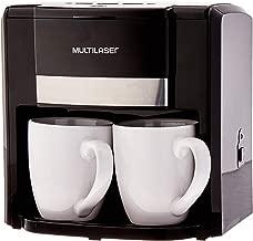 Cafeteira Elétrica 127V com 500W 2 Xícaras + Colher Dosadora + Filtro Permanente Preta Multilaser - BE009