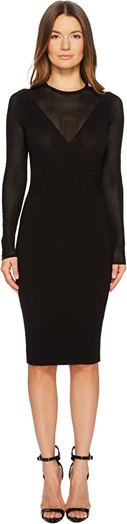 Abito Maglia Donna Long Sleeve Dress