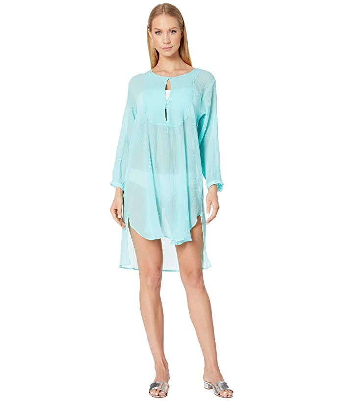 Vilebrequin Fitonia Crepe Cover-Up Dress (Acqua) Women