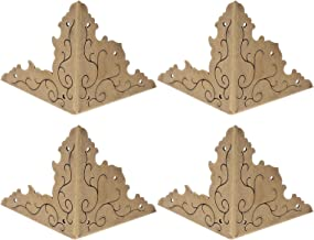 Baluue 4 Stuks Vintage Doos Hoek Protector Case Cover Box Hoek Bumpers Guard Tafel Bureau Driehoek Gesneden Voor Meubels D...