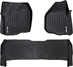 MAXLINER Floor Mats 2 Row Liner Set Black for 2012-2016 Ford F-250/F-350/F-450 Super Duty Crew Cab with Raised Drivers Side Pedal