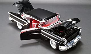 1957 Oldsmobile Super 88 Black with Red Stripes Limited Edition to 576 pieces Worldwide 1/18 Diecast Model Car by Acme A1808004