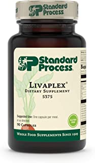 Standard Process - Livaplex - Supports Healthy Liver and Gallbladder Function, Provides Vitamin A, Niacin, Vitamin B6, Iron, Iodine, Zinc, Copper - 90 Capsules