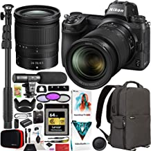 Nikon Z6 Mirrorless Camera Body with 24-70mm F4 Lens FX-Format Full-Frame 4K UHD Filmmaker's Kit Bundle with Deco Gear Bac...